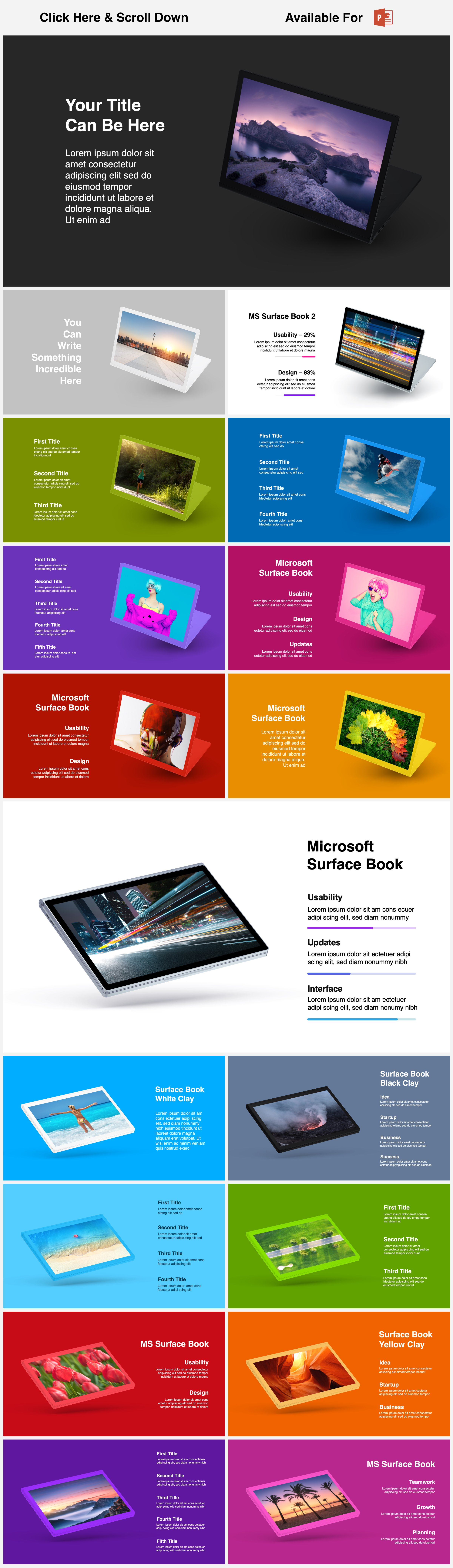 Animated Mockups Presentation Bundle. Infographic Templates. example image 15