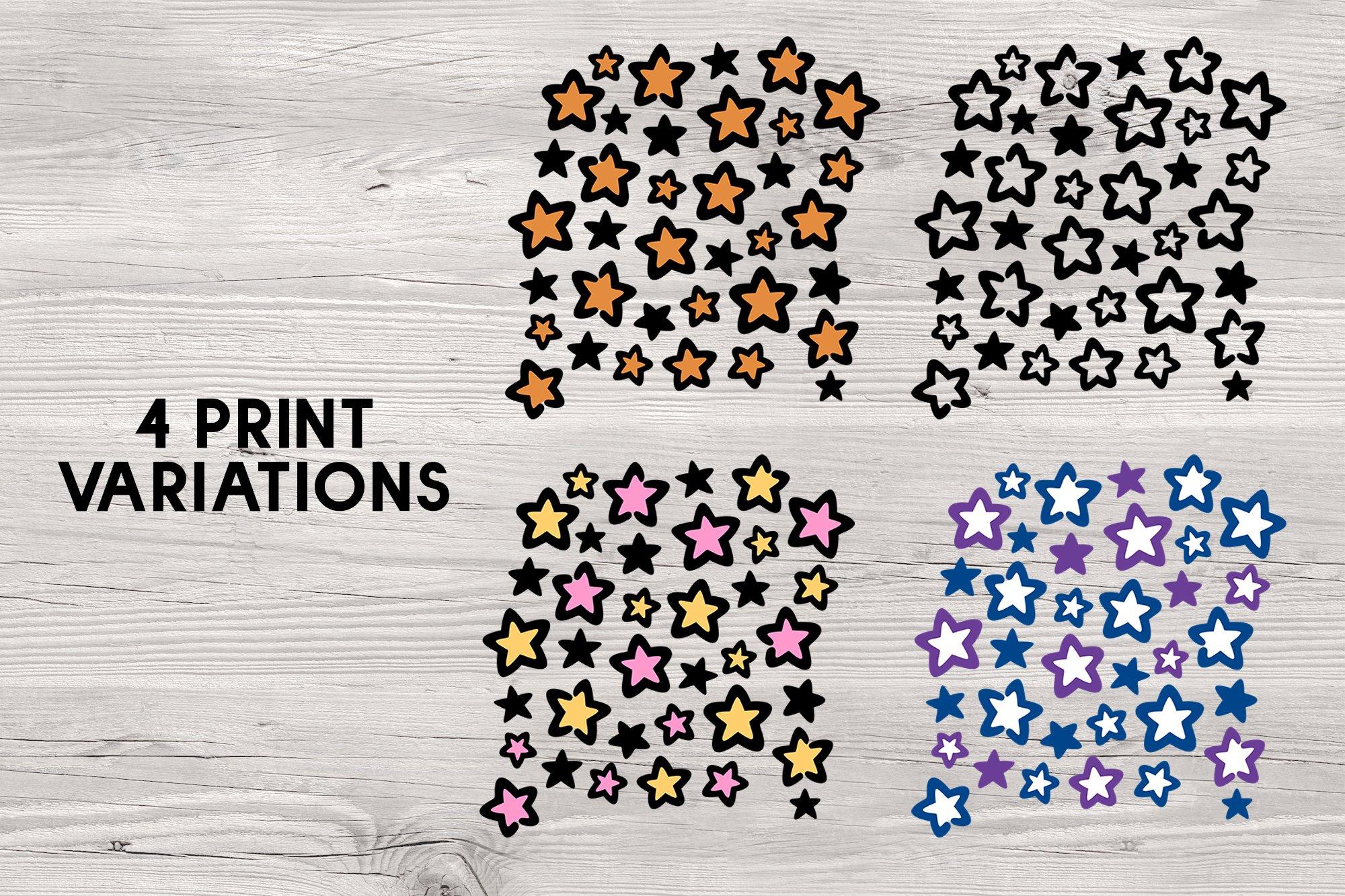 Star leopard print - svg png eps pdf example image 2