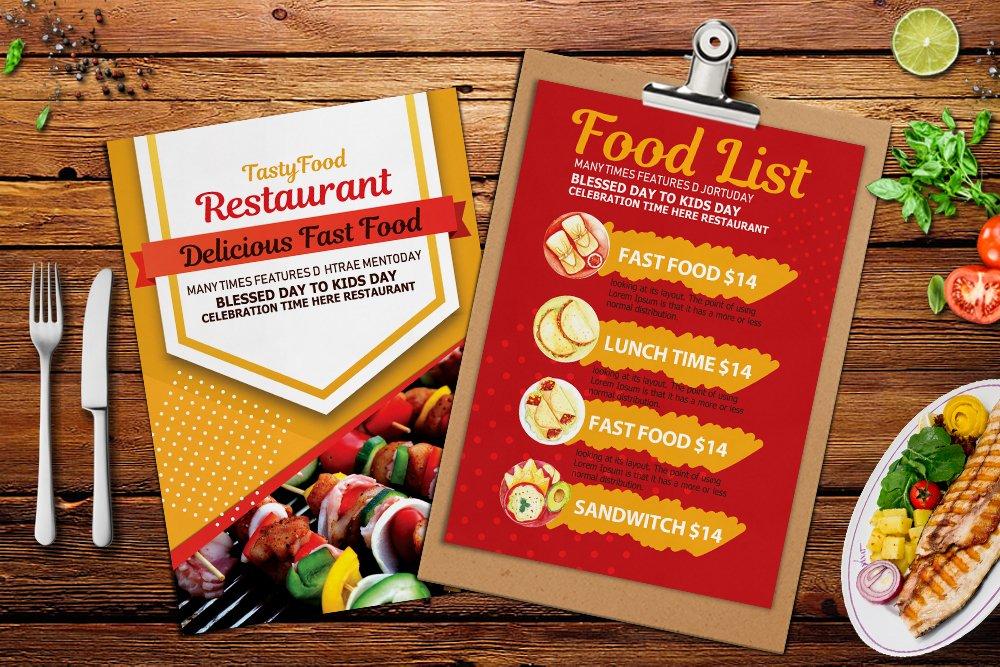Restaurant Food Menu Template example image 3