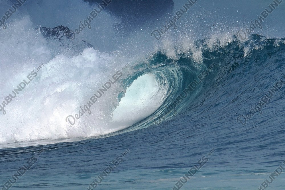 Stock Photo - close up shoot of a wave breaking example image 1