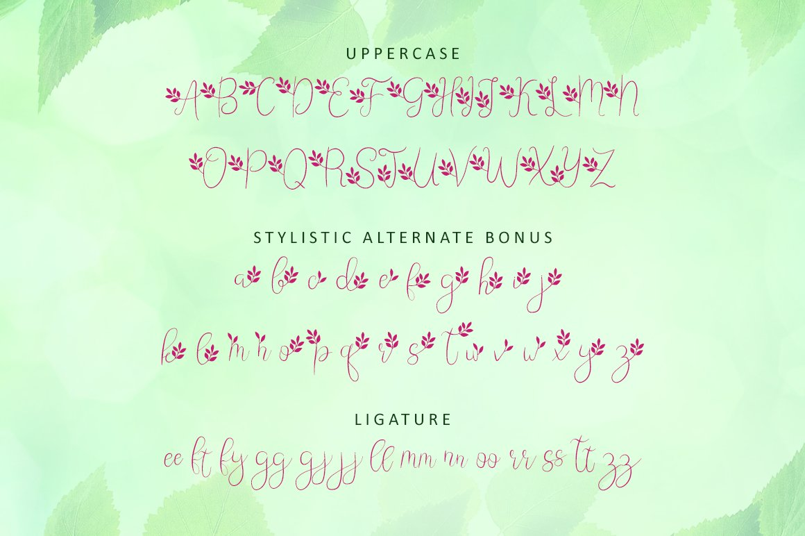 Leafing - Modern Script Font with 3 alternates example image 9