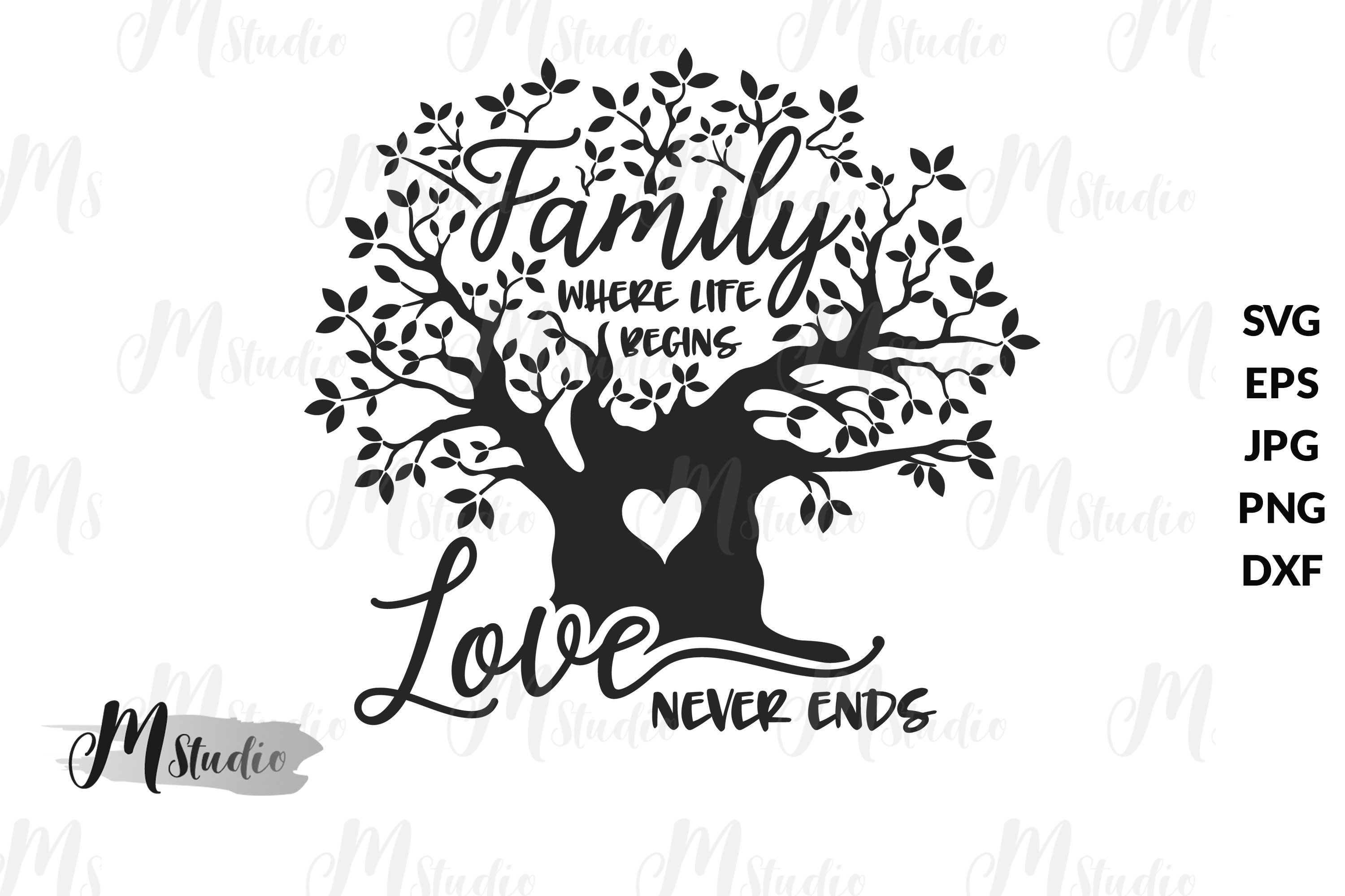 Download Family where life begins and love never ends SVG (539588 ...