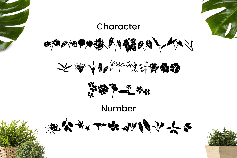 Dingbat Plant Font example image 2