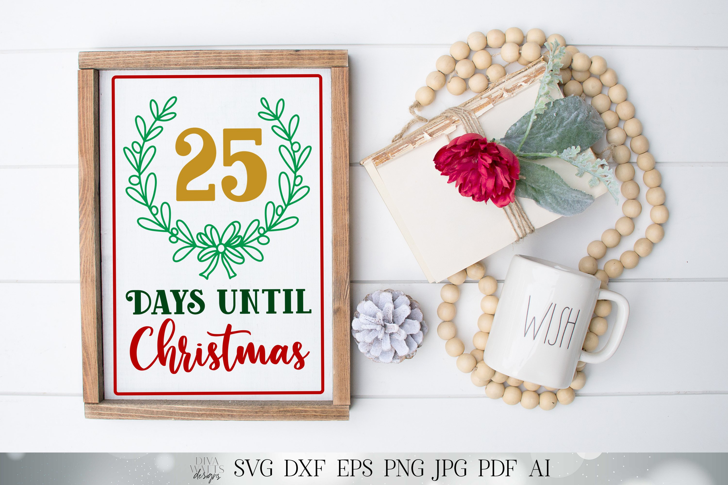 Days Until Christmas - Cutting File and Printable example image 4