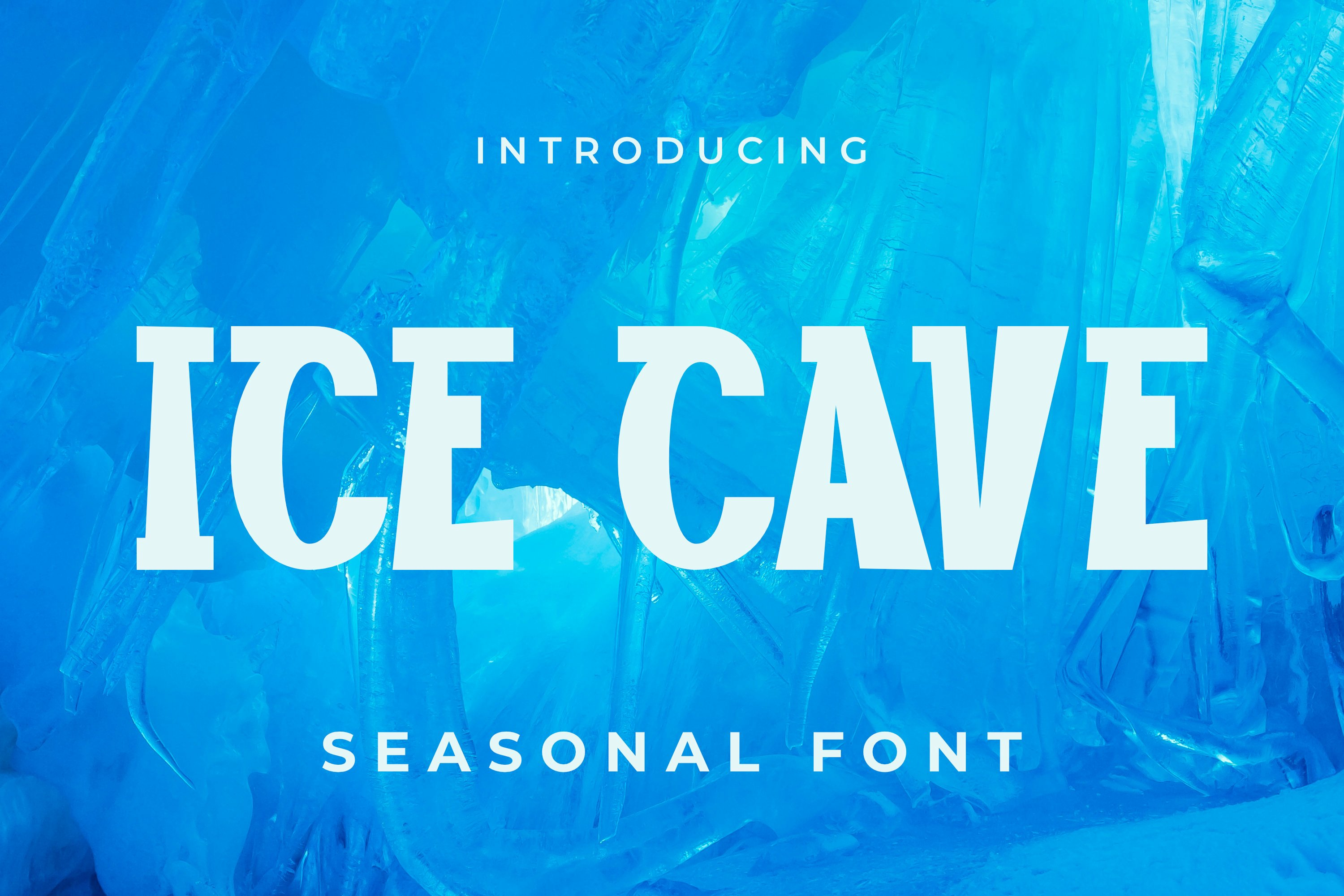 Ice cave Font example image 1
