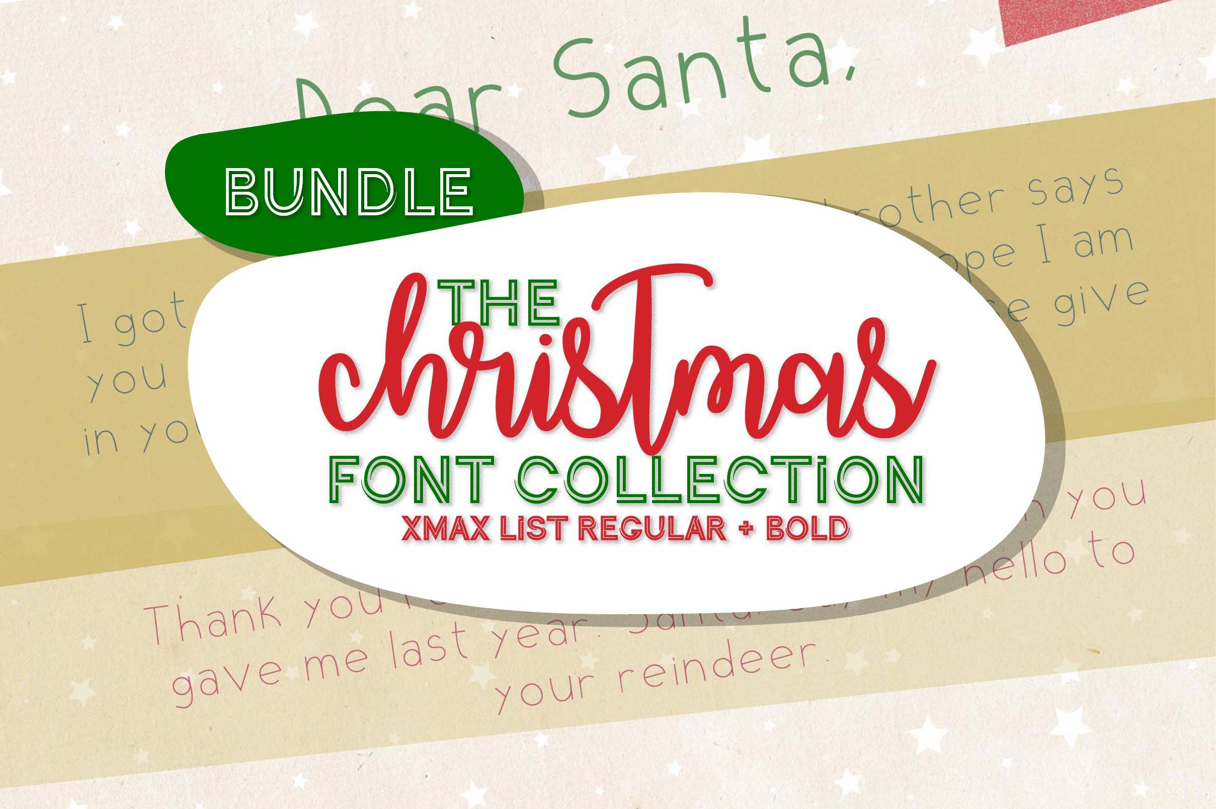 Christmas Font Bundle - A festive collection sans serif font example image 1