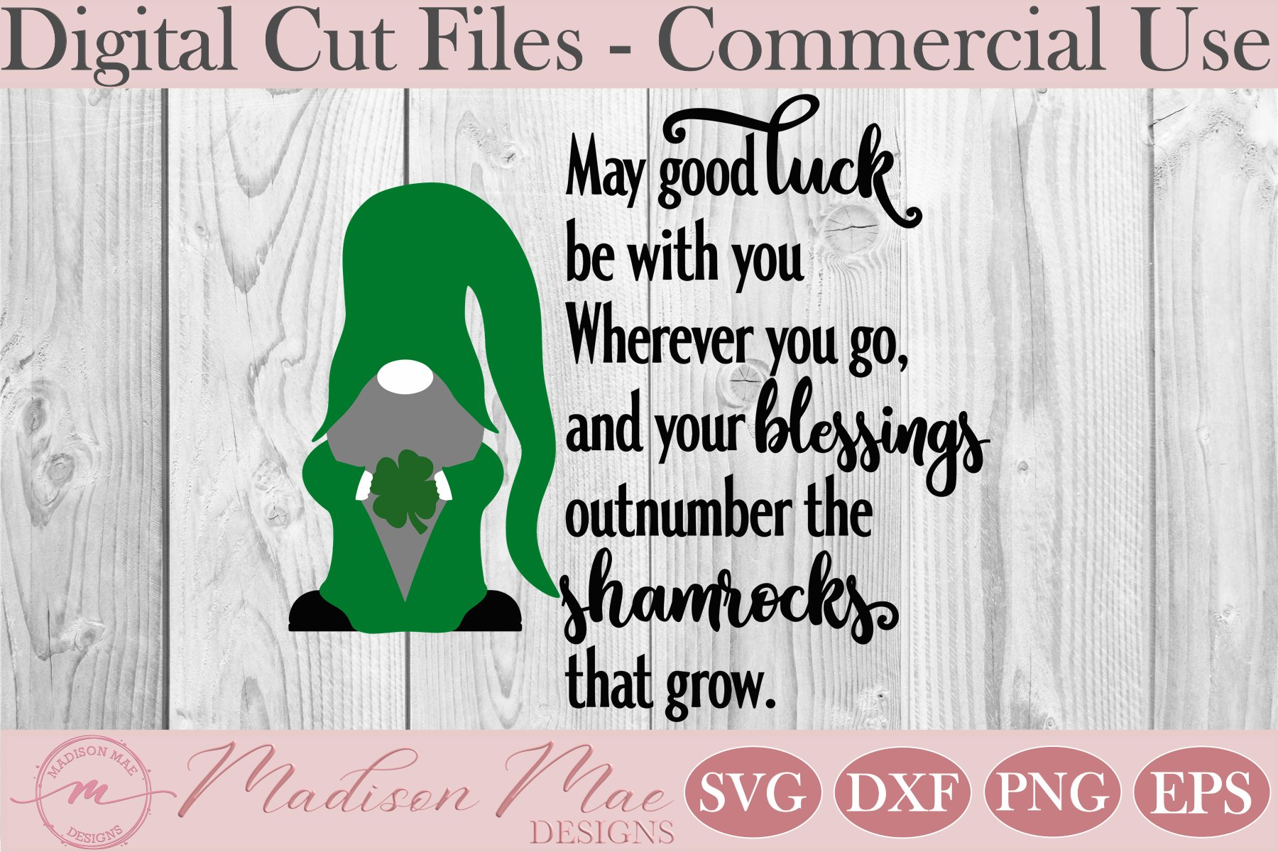 Irish Blessing SVG, Saint Patrick's Day Gnome SVG example image 2