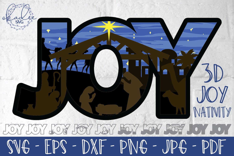 3d Joy Svg Layered Nativity Cut File 3d Christmas Dxf Eps 902363 Paper Cutting Design Bundles