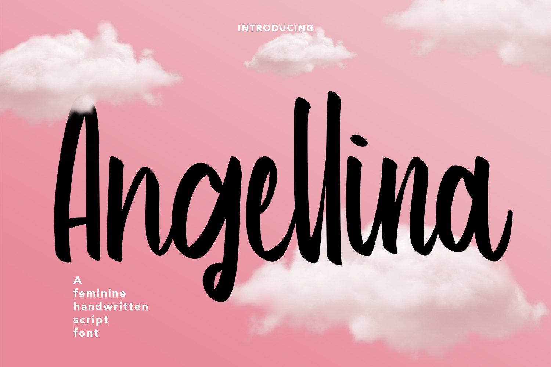 Angellina - Handwritten Script Font example image 1