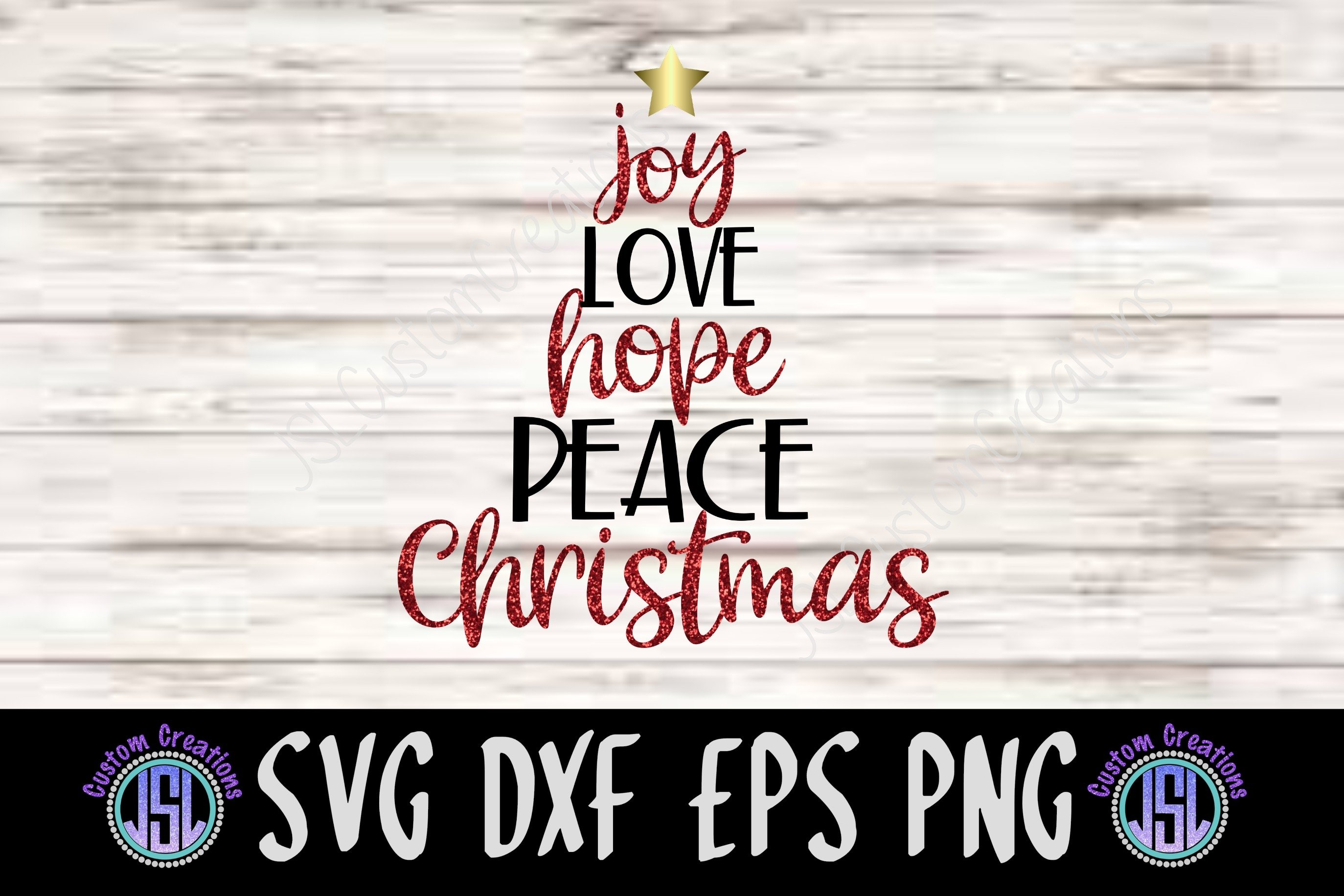 Download Love Peace Joy Christmas Svg, Dxf Files, Png Files, Holidays Svg, Xmas Svg Image