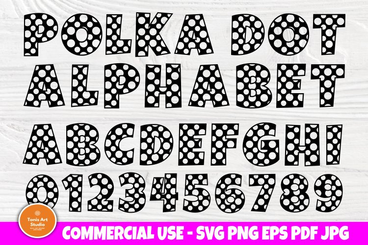 Polka Dot Alphabet Svg Monogram Letters Svg Font Svg 563926 Cut Files Design Bundles
