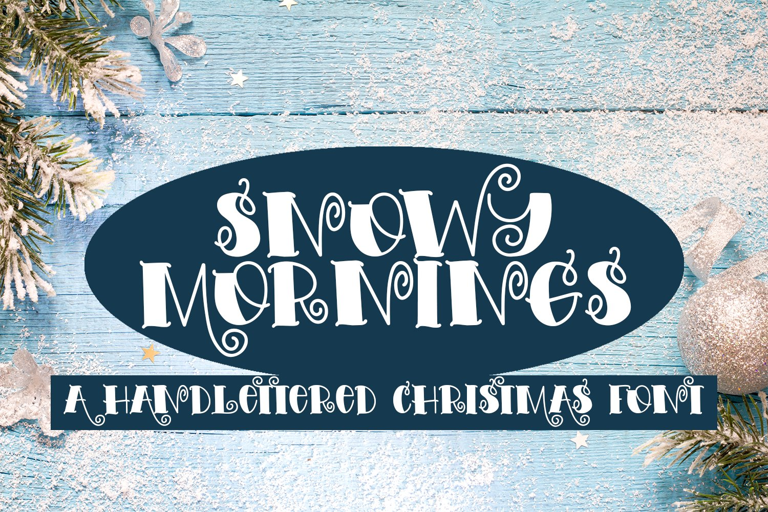 Snowy Mornings - A Hand-Lettered Christmas Font example image 1