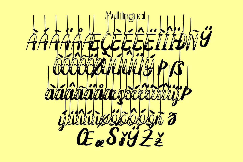Hanging Darling Decorative Holiday Font example image 11