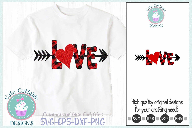 Valentines Day Svg Plaid Love Heart Arrow Svg Cut File 416715 Svgs Design Bundles