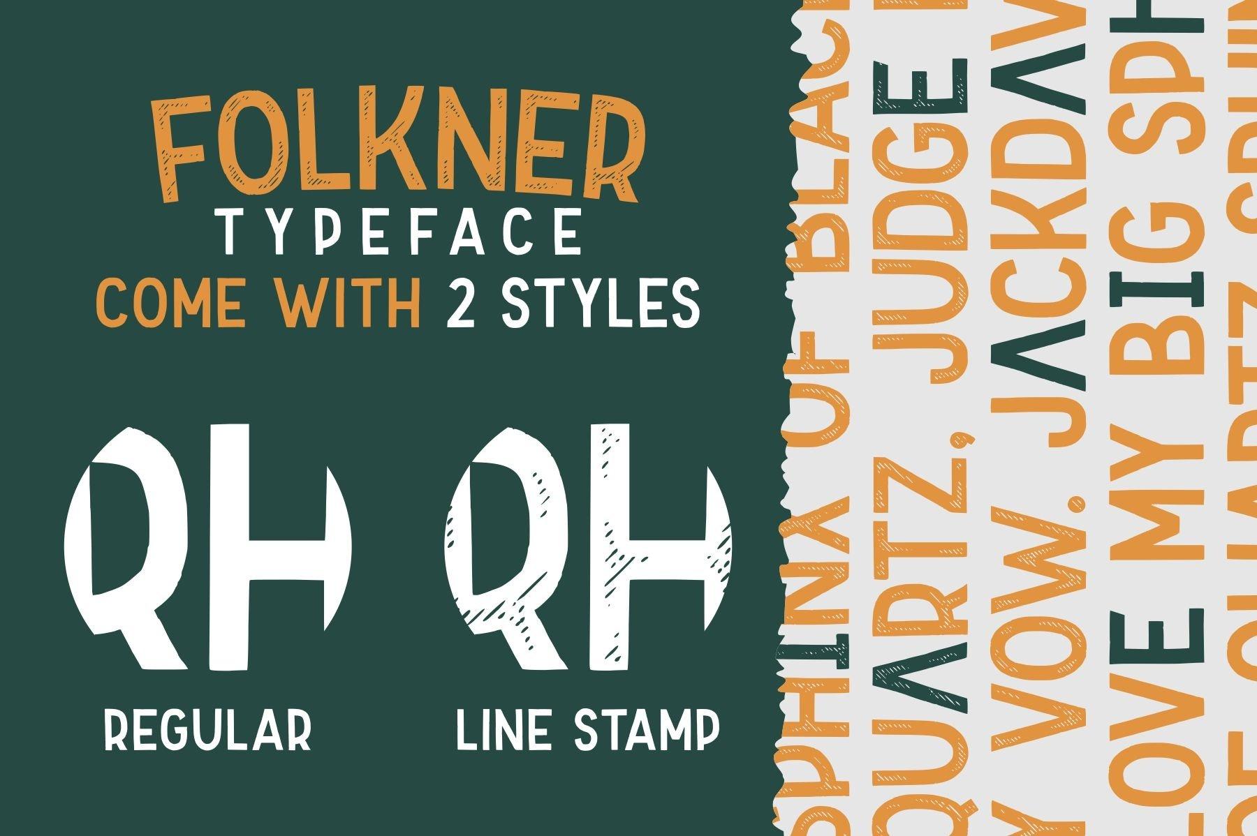 Folkner - Vintage Typeface example image 5
