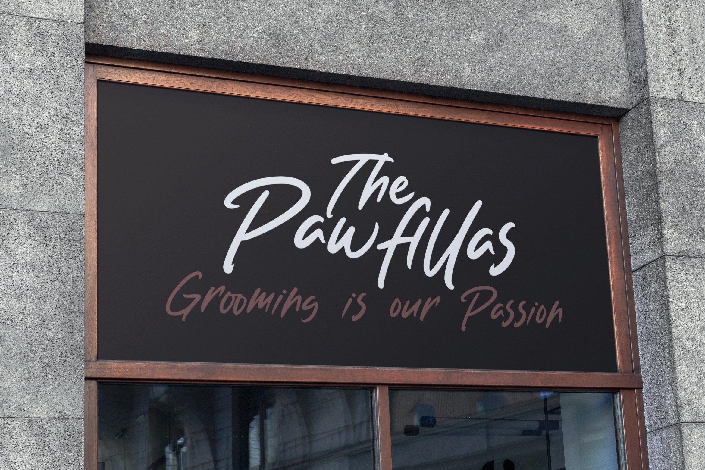 Pawfilla - Brush Font example image 7