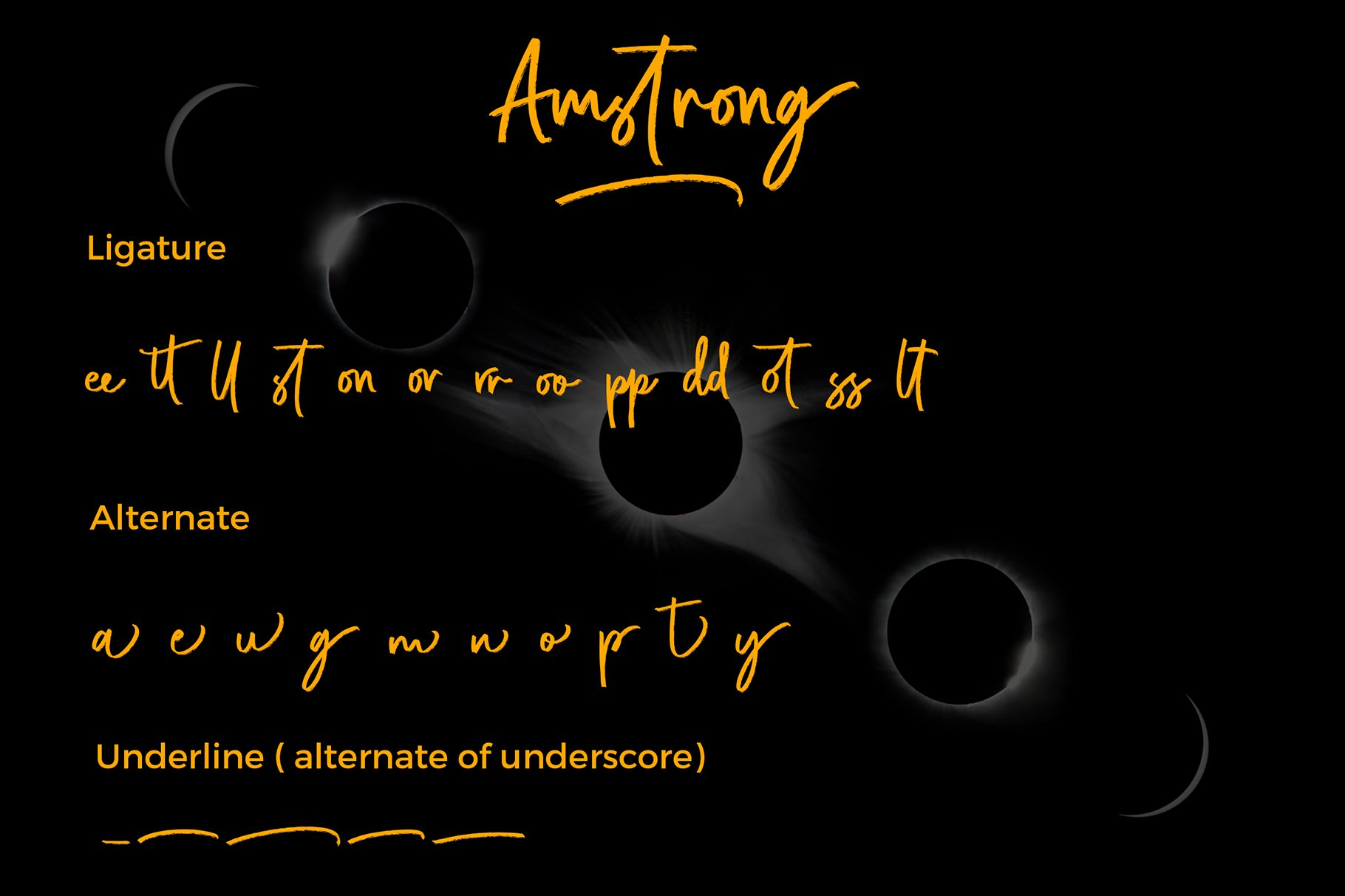Amstrong Beautiful Brush Font example image 6
