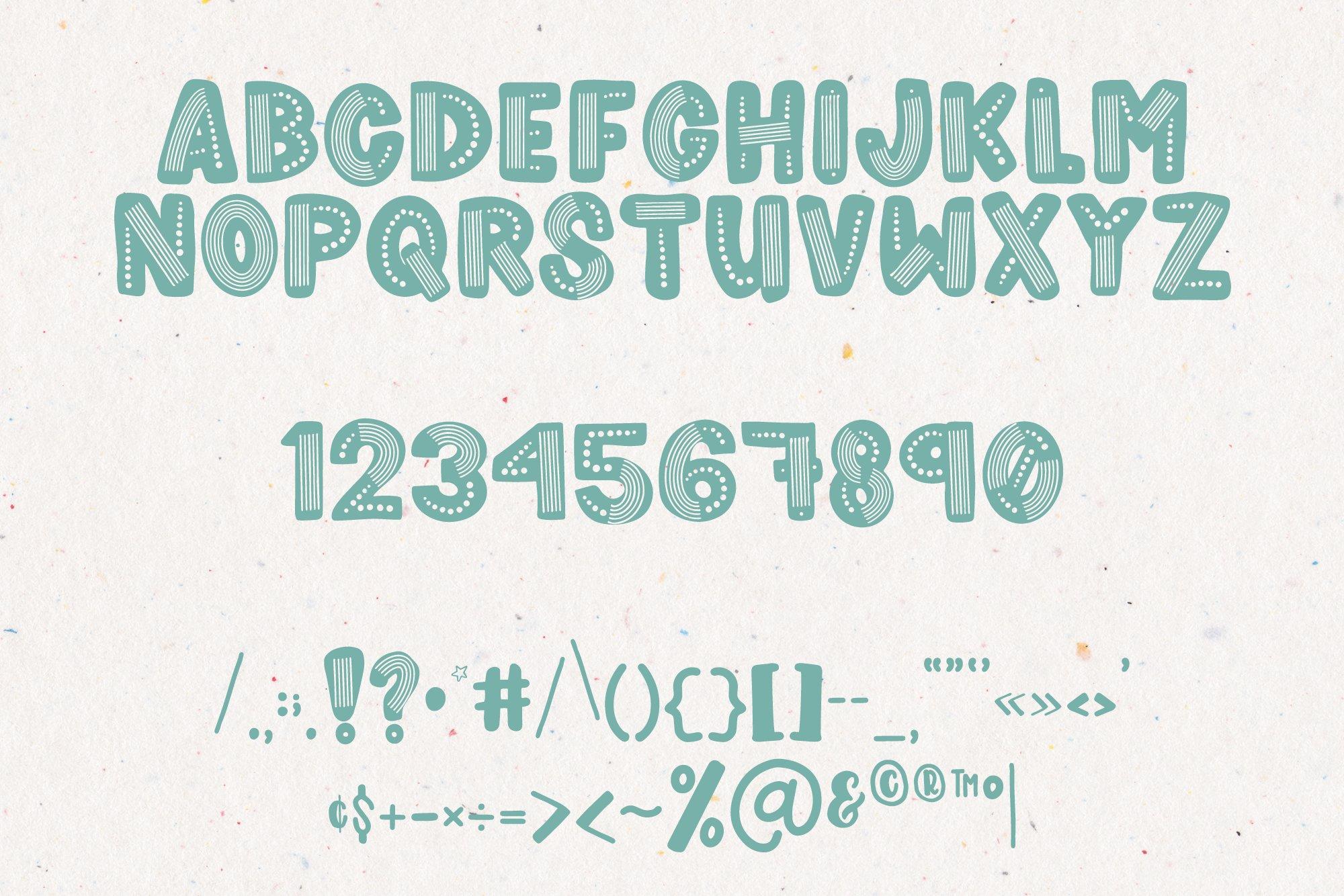 Rainboho   A Layered Abstract Font Family example image 3