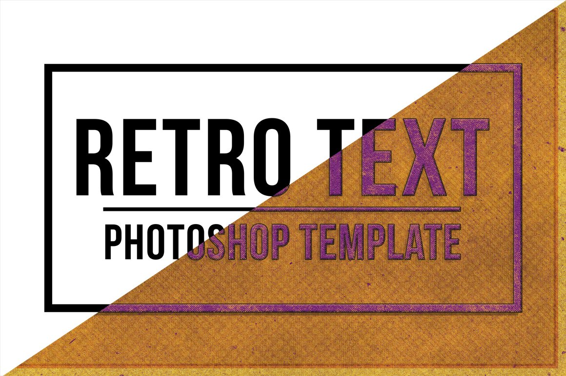 Retro Text Effect for Photoshop example image 2