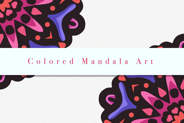 Colored Mandala Art 07 example image 3