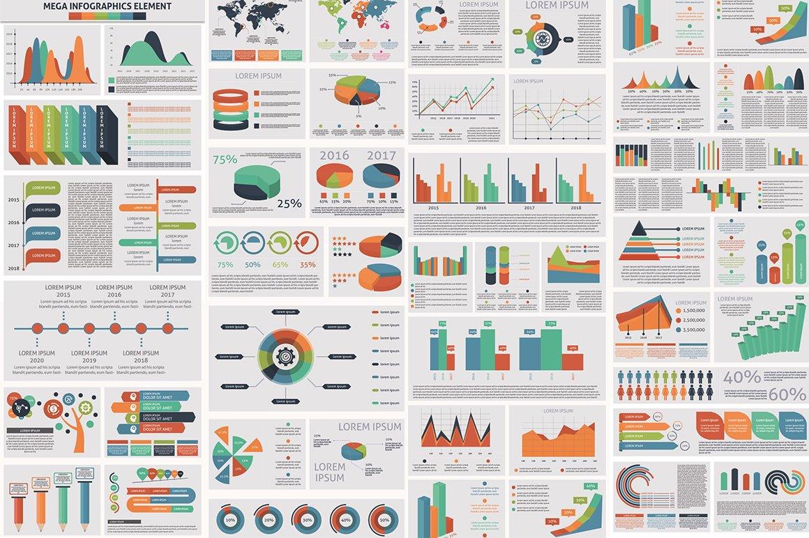1000 Ultra Big Bundle Infographics Elements example image 5