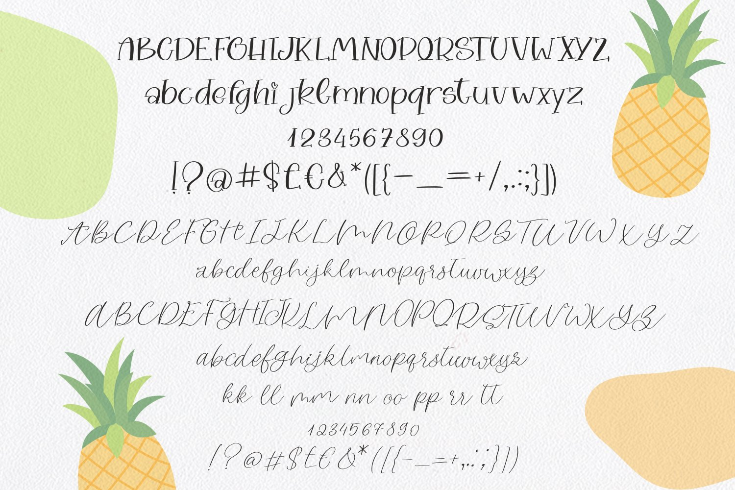 Pineapple Moon Font Duo example image 5