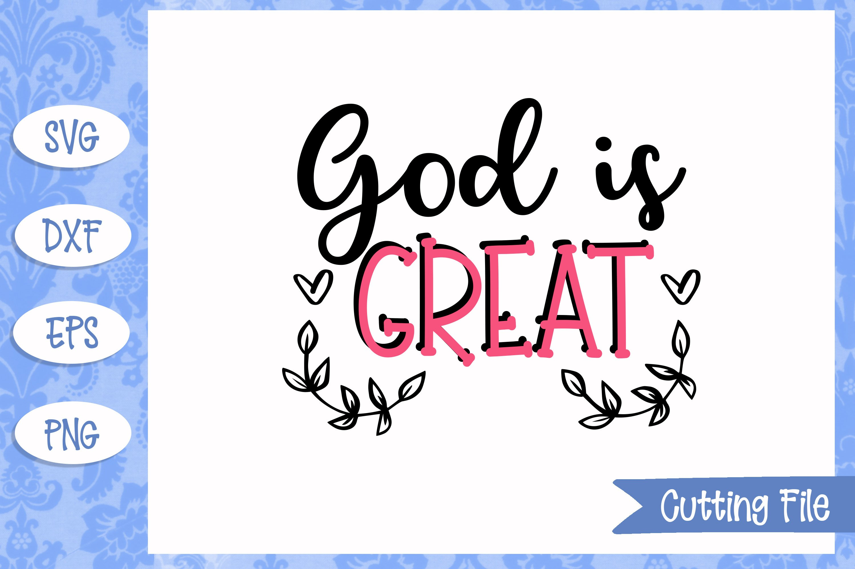 God is great SVG File example image 1