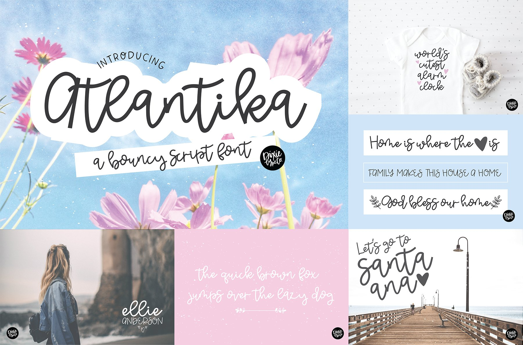 Hand Lettered Font Bundle by Dixie Type Co. example image 2