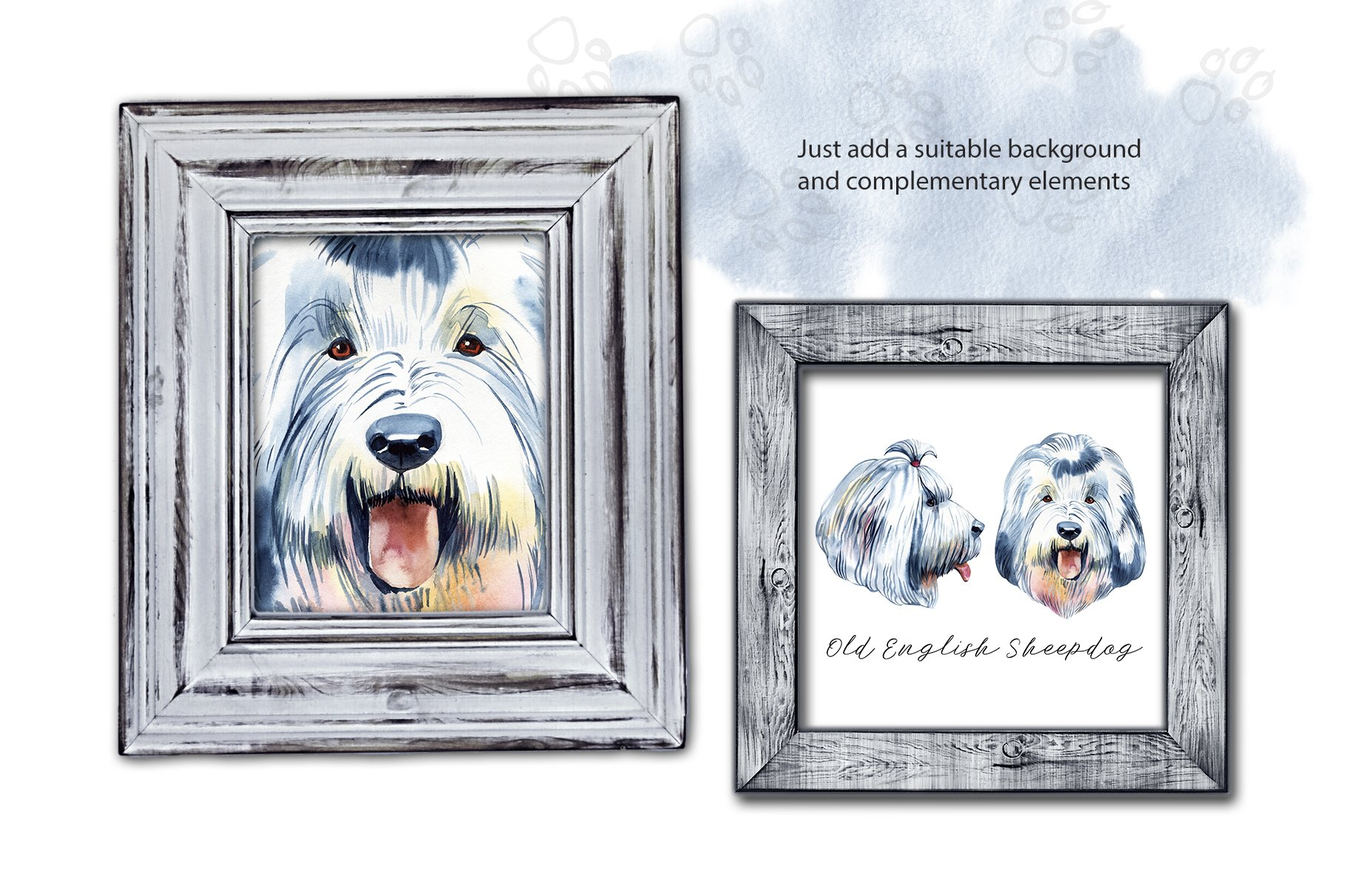 Watercolor herding dogs example image 8