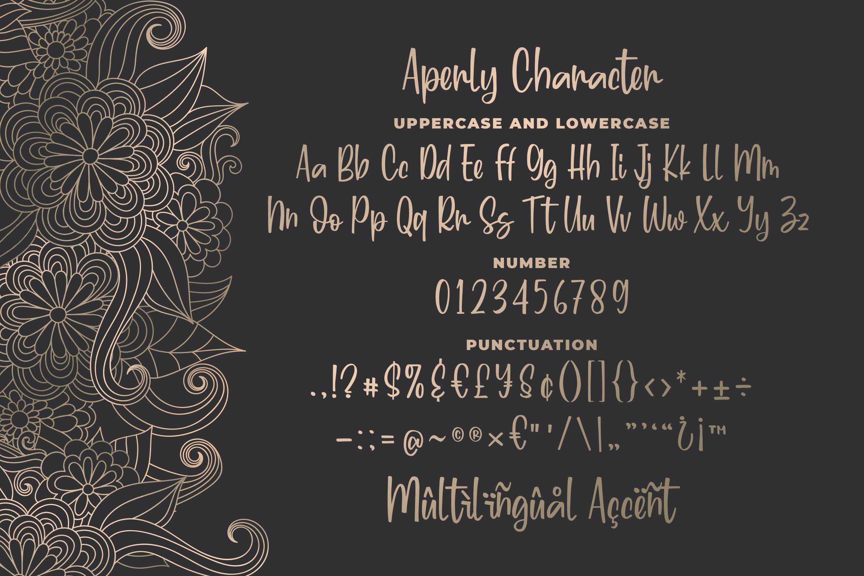 Aperly - Unique Script Font example image 5