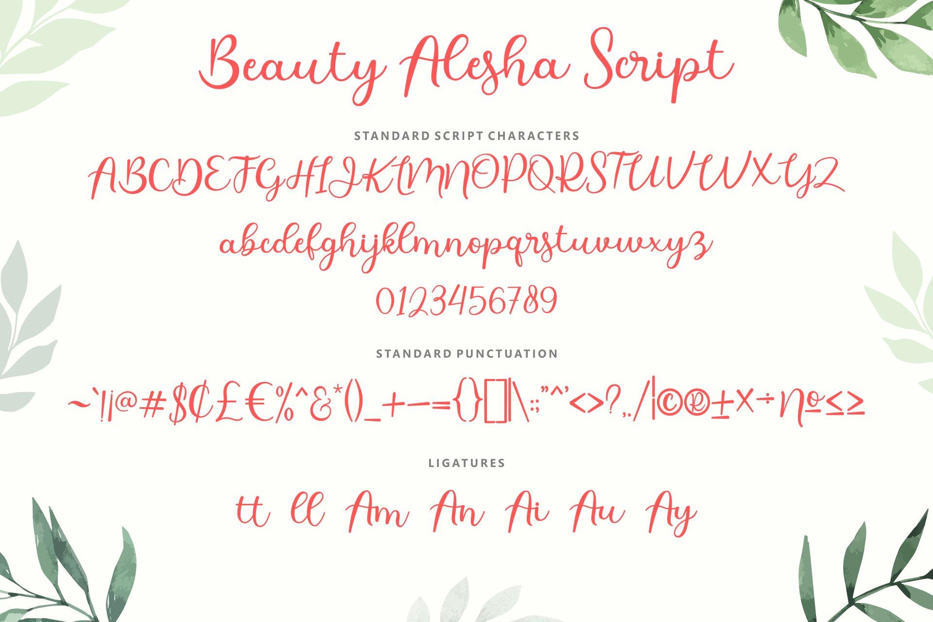 Beauty Alesha Font Duo example image 2