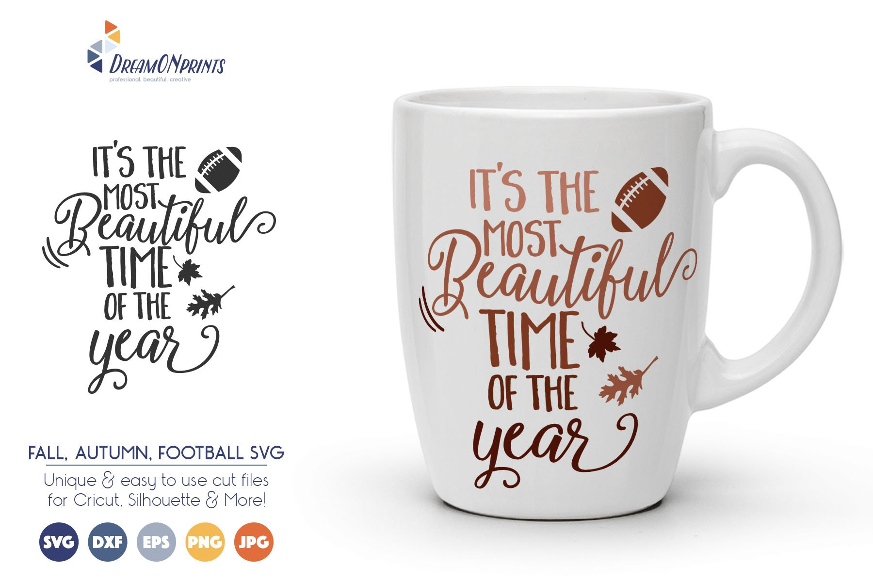 Football Fall SVG Cut Files example image 1