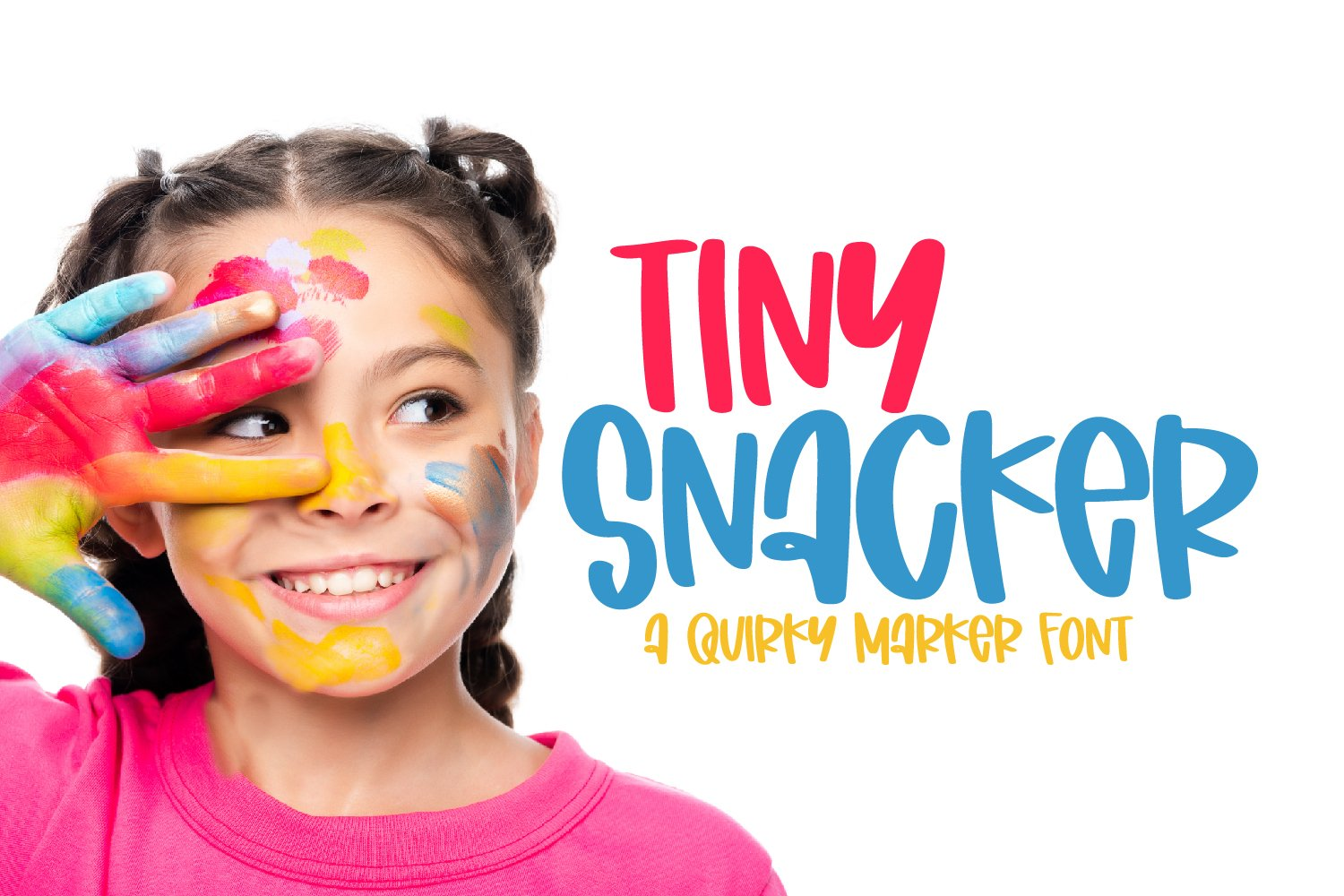 Tiny Snacker - A Quirky Marker Font example image 1