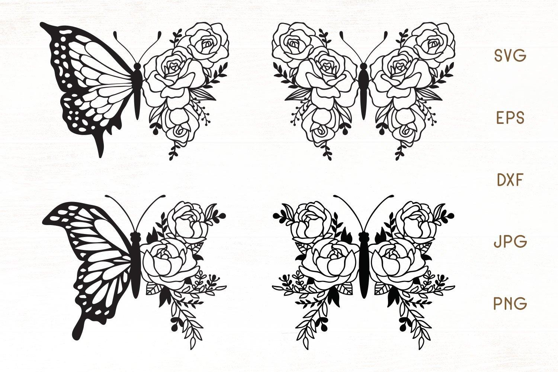 Floral Butterfly Zentangle Butterfly Svg Flower Butterfly 854295 Svgs Design Bundles