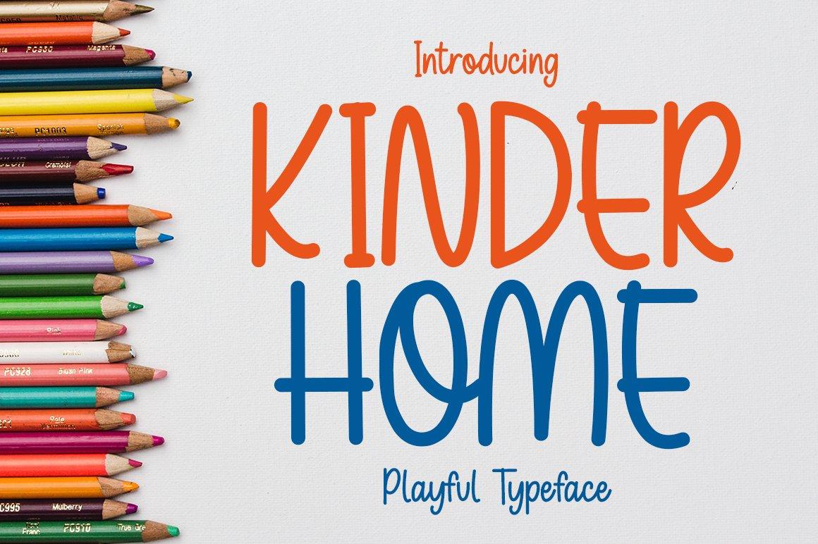 Kinder Home - Playful Font example image 1