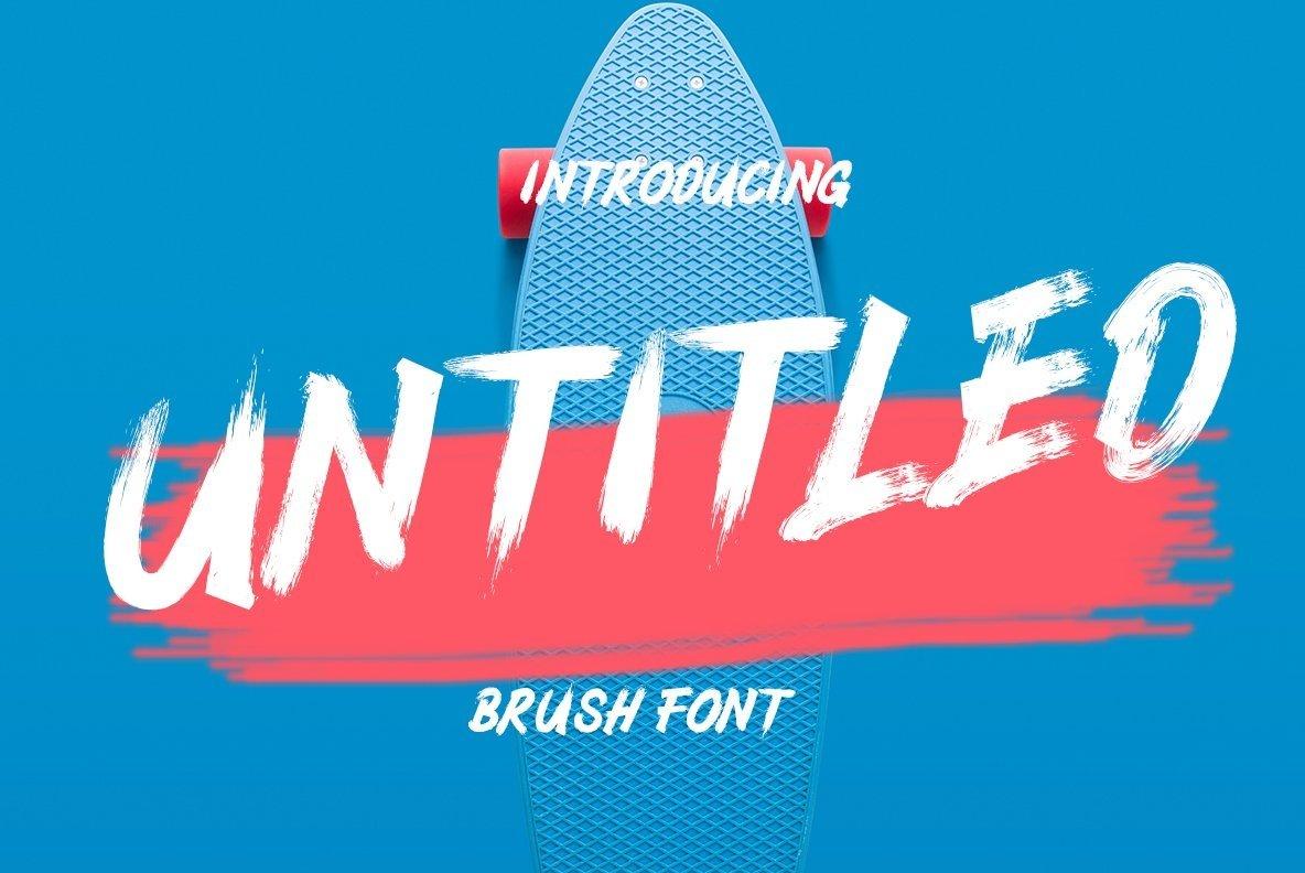 Untitled Brush Font example image 1