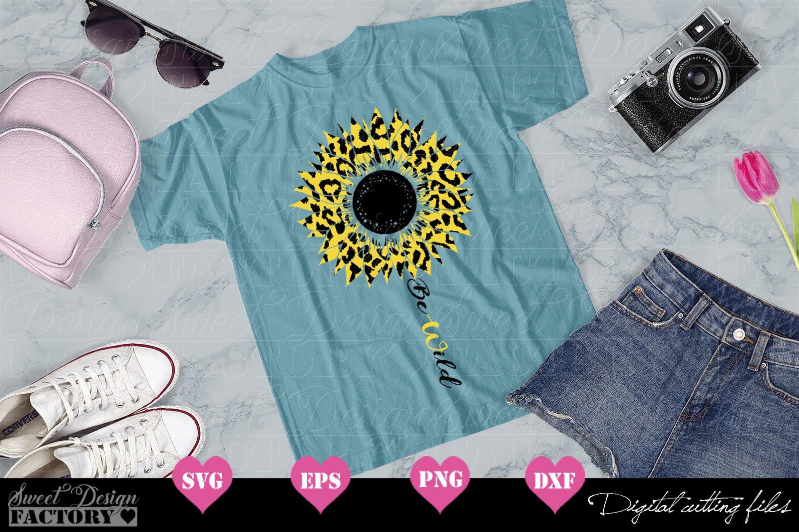 Download Sunflower leopard print Svg (563791) | Cut Files | Design ...
