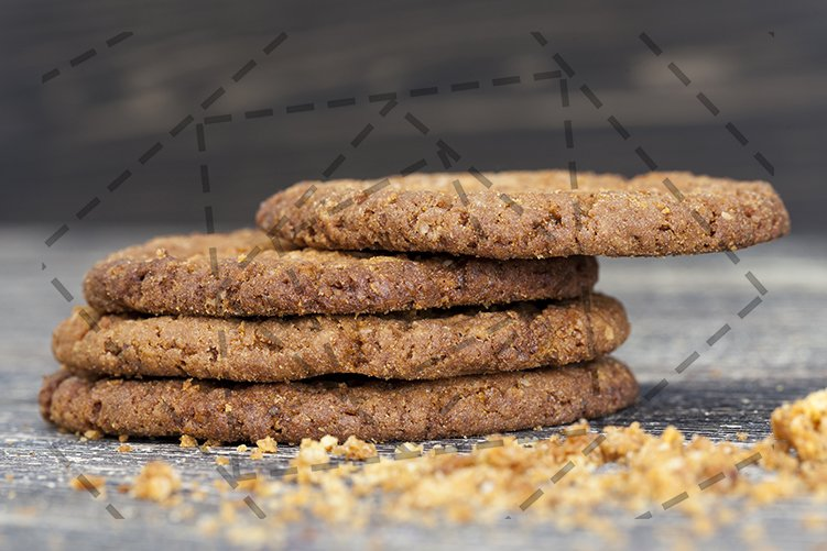 crumbs round-shaped oatmeal cookies example image 1