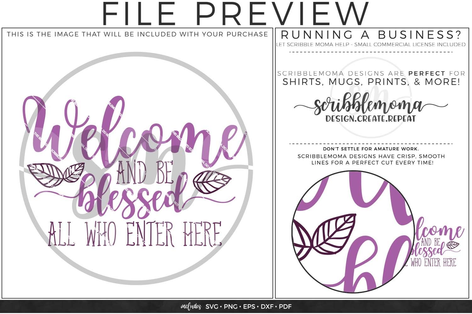 Welcome And Be Blessed Svg 130327 Svgs Design Bundles