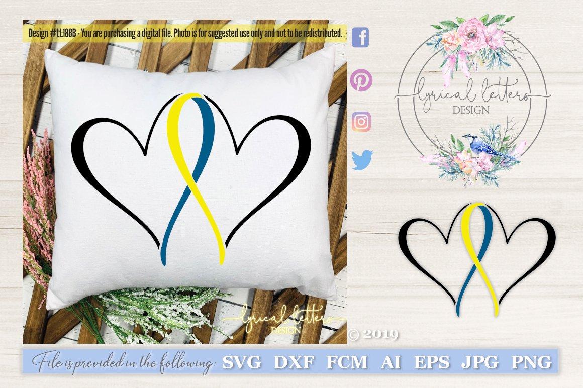 Down Syndrome Awareness/_ Fabulous/_Ribbon  SVG File