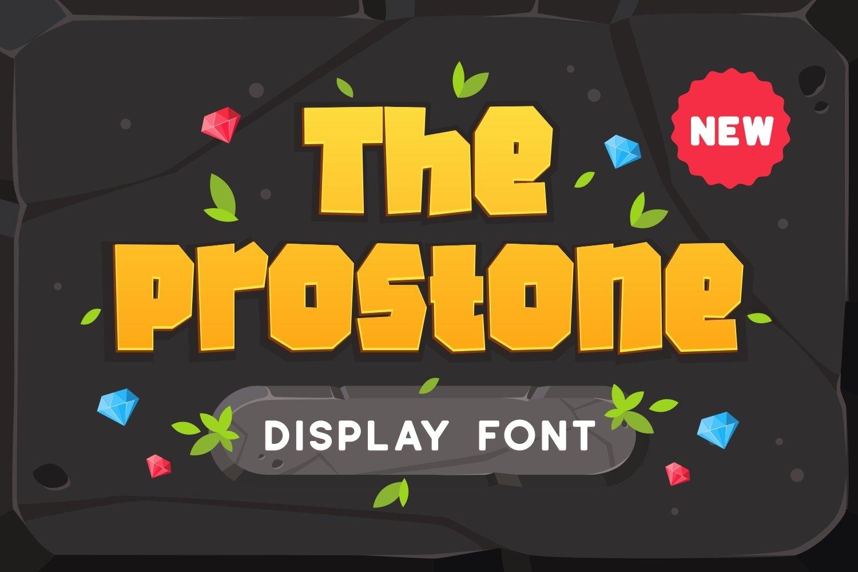 Prostone - Playful Display Font example image 1