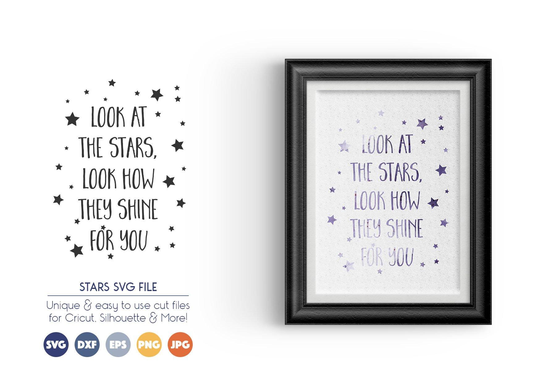 STARS SVG Cut Files example image 1