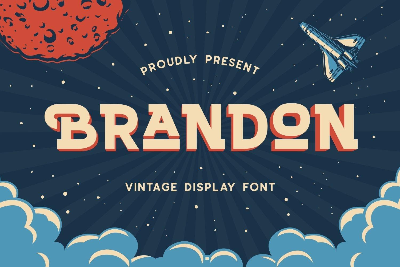 Brandon - Vintage Display Font example image 1