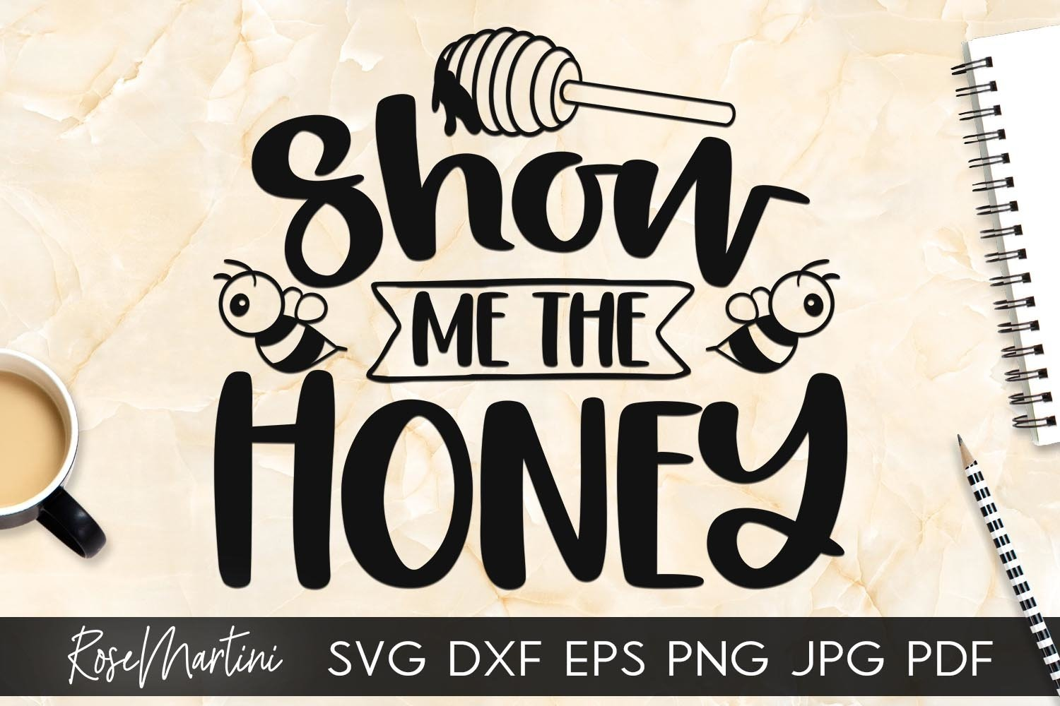 Show Me The Honey SVG Queen Bee SVG Bee Pun Bumble Bee SVG example image 5