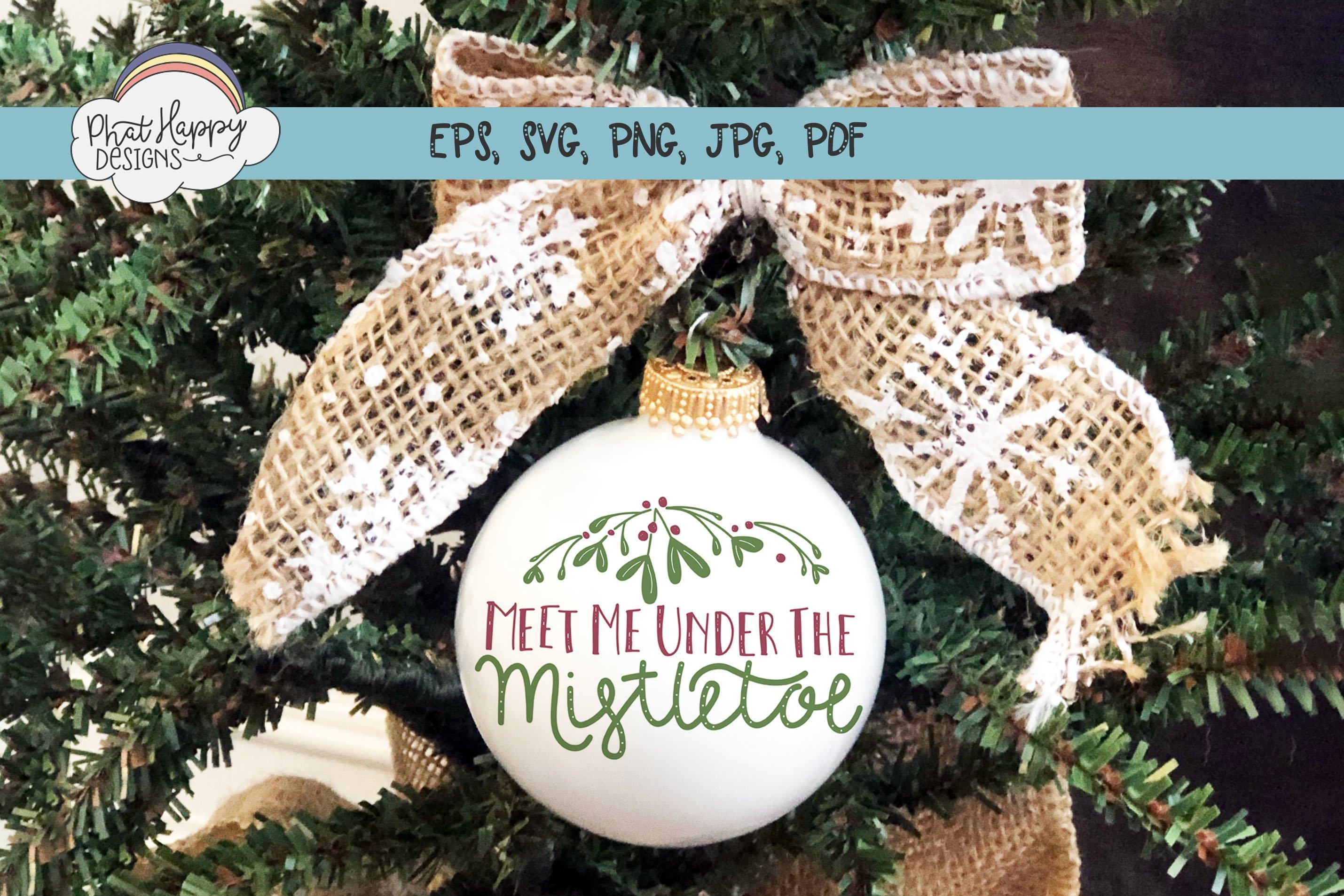 Under the Mistletoe - Hand Lettered Christmas SVG example image 4