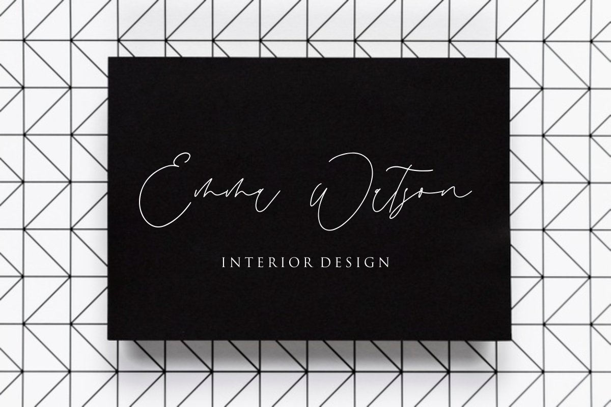 Emeria - Luxury Calligraphy example image 9