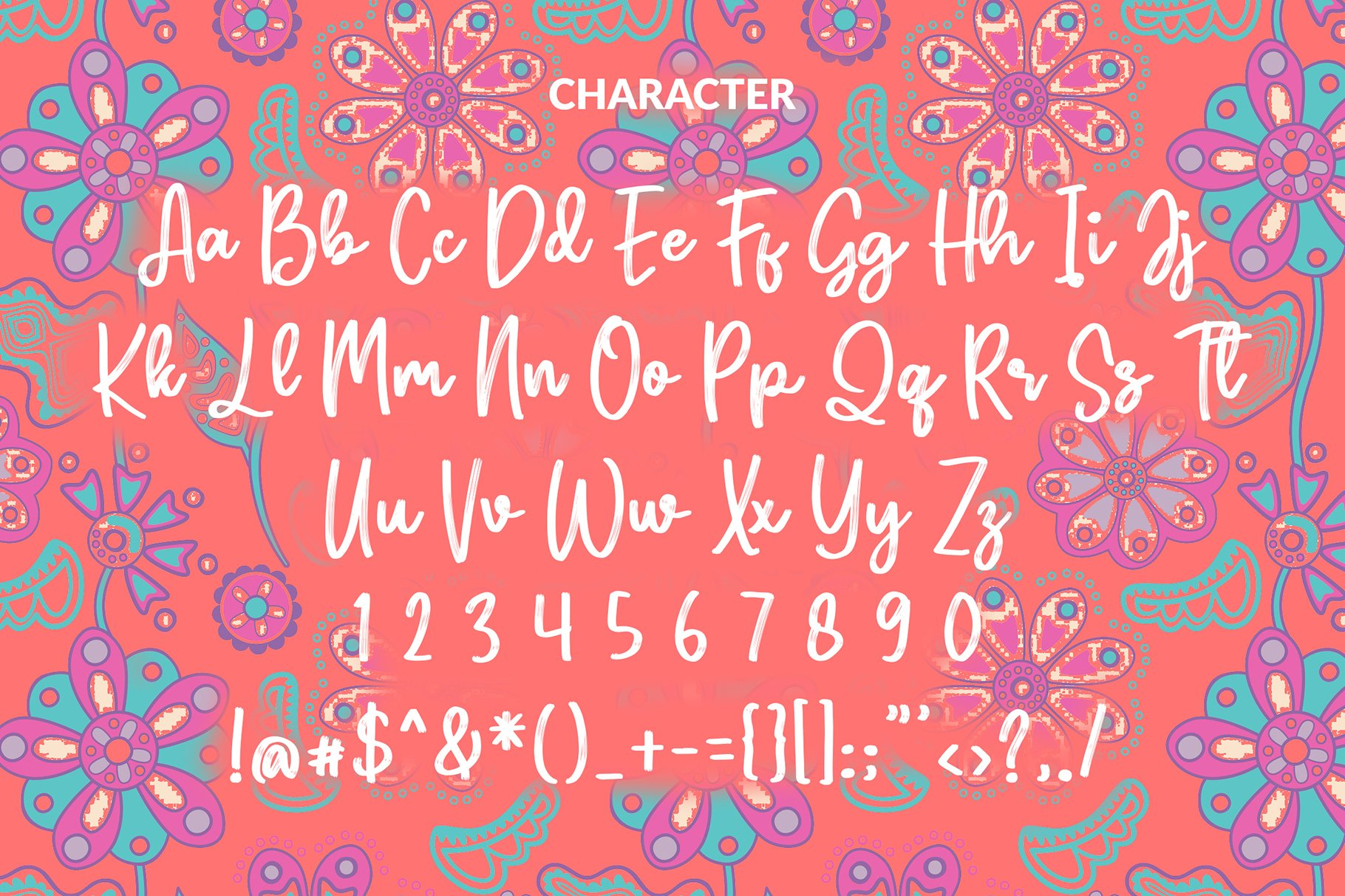 Purbaya Brush Script Typeface example image 5