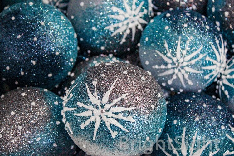 Blue Christmas balls example image 1