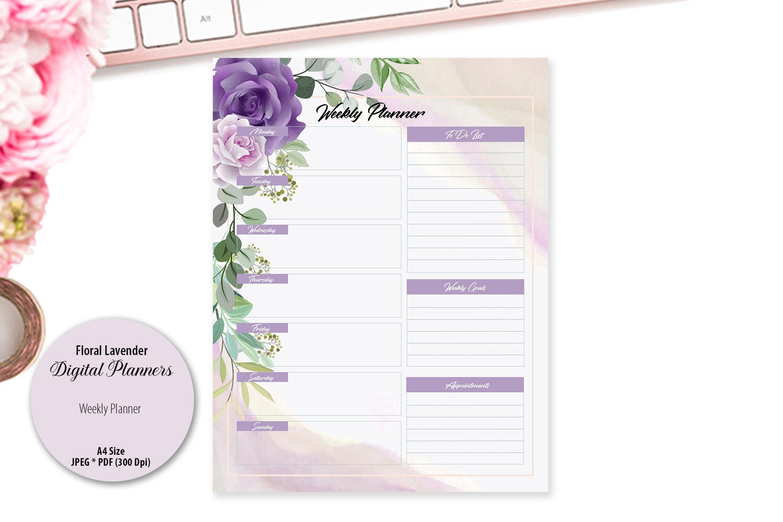 Floral Lavender Digital Planner example image 3
