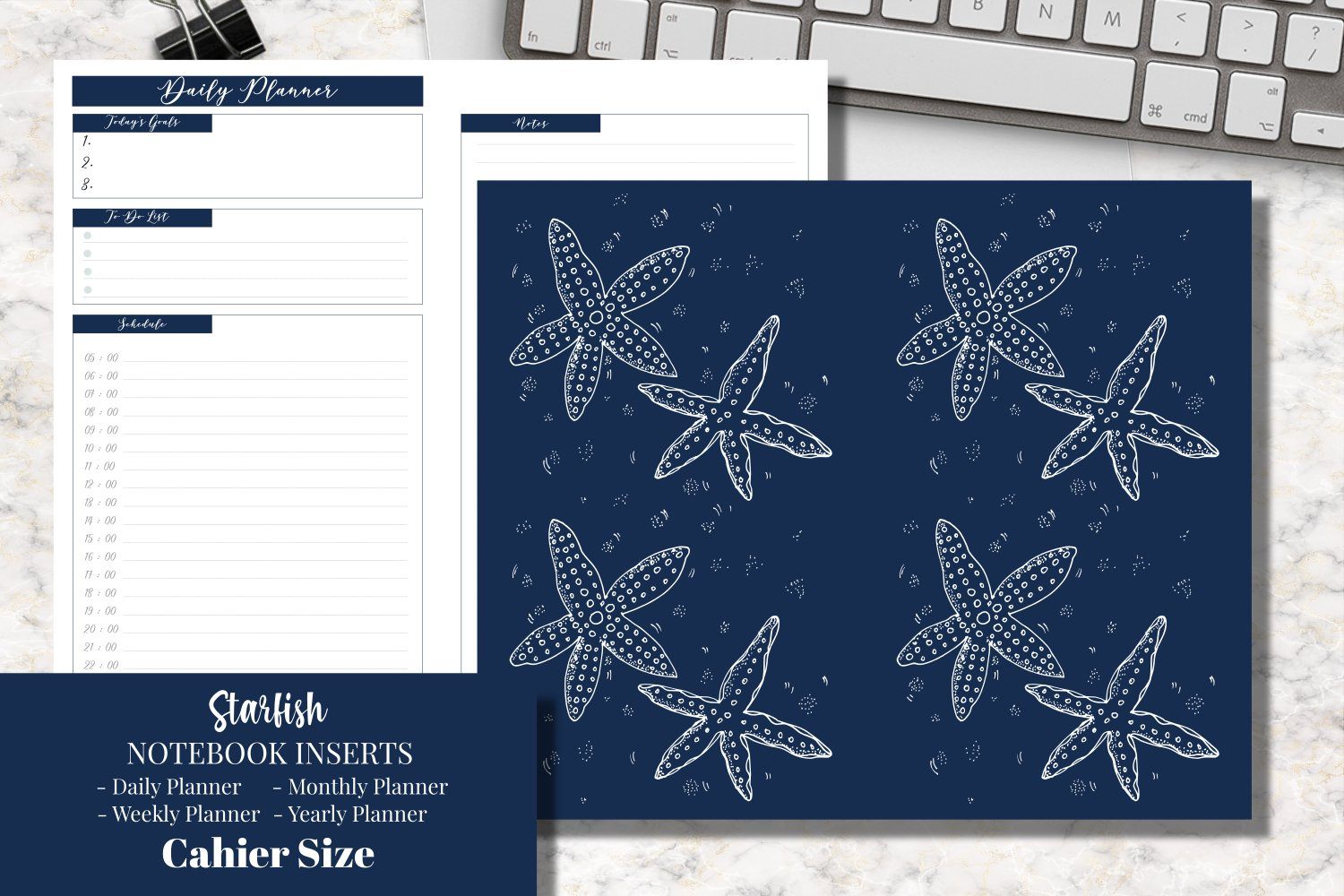 Starfish Cahier Size Notebook Inserts Planner example image 1